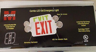 Morris 73040 Combo Led Exit Emergency Light 120277v