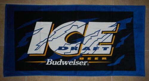 Budweiser Bud Ice Draft Beer Logo 30x60 Beach Towel