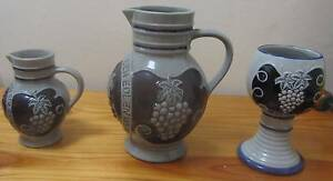 Wine jug-glass-Stein set of three Crafted in Germany 1991 Grapes Prospect Prospect Area Preview