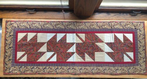 Vintage Table Runner Handmade Quilted