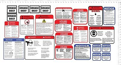 Vermeermorbarkbrush Bandit Wood Chipper Safety Decal Kit