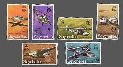 Seychelles   #285-290 MLH   Types of Airplanes -Amphibians -Flying Boats 1971
