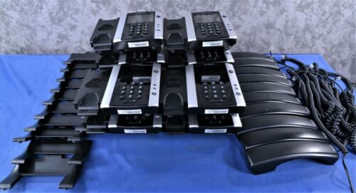Lot of 10 x Polycom VVX 501 Business IP Phone W/Stands and Handsets  C042004