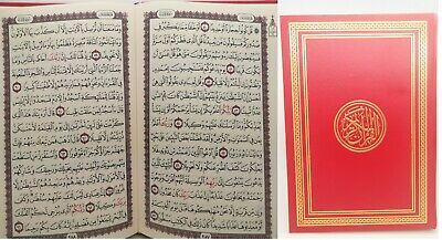 New Arabic Style Holy Quran - Big Writing 15 Lines, Koran Islam Size ( 25X19 CM)