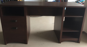 student / home office wood DESK & CREDENZA