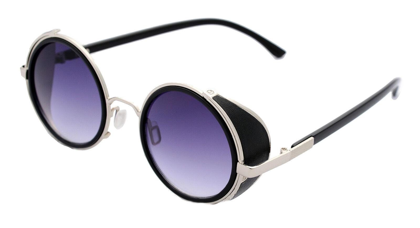 Sonnen Brille Steampunk 50er Rund Brillen Cyber Vintage Retro Stil Blinder tNcuyLYLeq