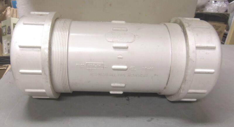 "Flo-Control - PVC 4"" I.P.S. Compression Coupling - P/N: 110-40 (NOS)"