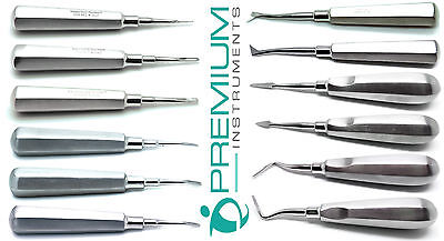 Dental Extraction Elevators Cogswell Cryer Spear Crane Apical New Set Of 12