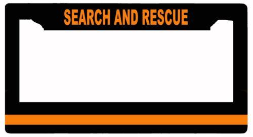 L@@K! Search and Rescue Orange Line - License Plate Frame - Wash