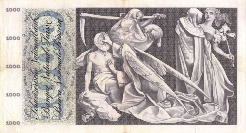 Switzerland  1000 Franken  21.12.1961  P 52e  Series  22 Circulated Banknote