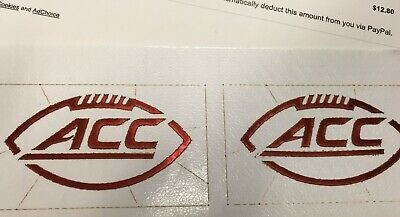 ACC FULL SIZE RED CHROME FOOTBALL HELMET DECAL Pro Combat Edition comprar usado  Enviando para Brazil