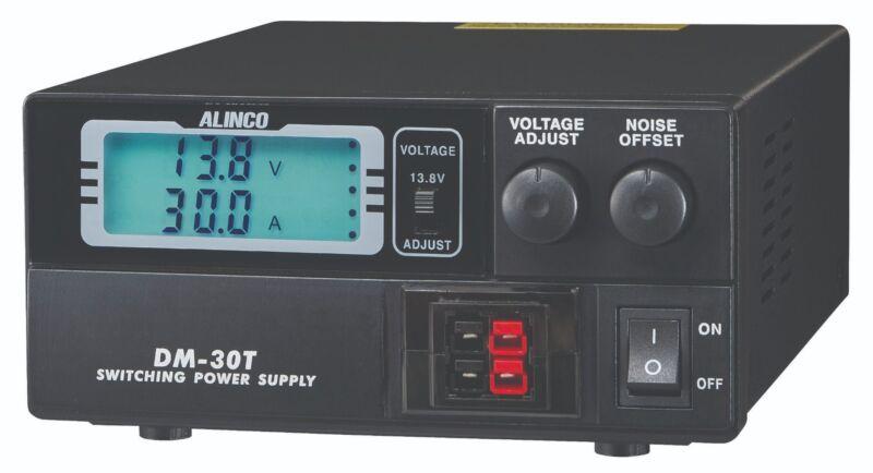 Alinco DM-30 Compact Digital Power Supply 30A Max 9-15VDC w/ PowerPole Conn.