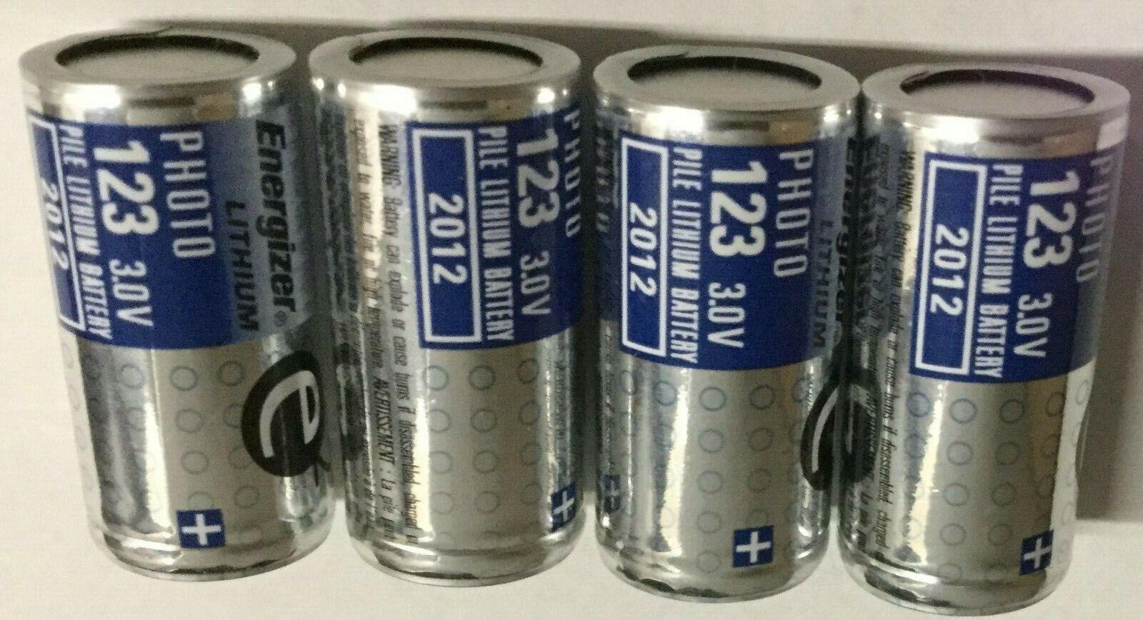 Energizer EL123A CR123A 3 Volt Photo Lithium Battery 4 Pack