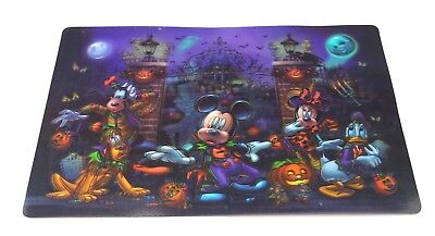 NEW Disney Parks Not So Scary Halloween Haunted Hatbox Placemat Mickey Mouse - Disneys Not So Scary Halloween