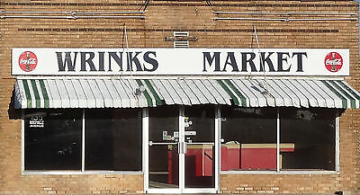 #346 O scale background building flat  WRINKS MARKET   *FREE SHIPPING*