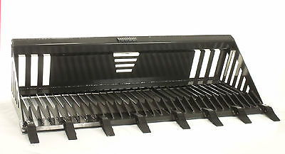 Skid Steer Rock Bucket Attachment 72 Wide With Teeth