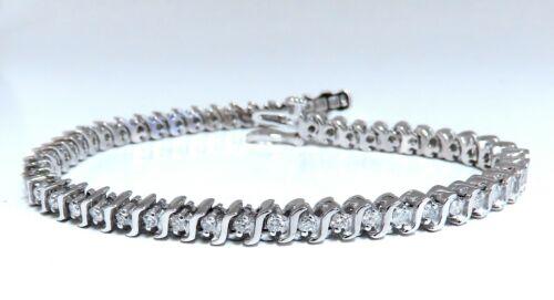 2.02ct Natural Diamonds Tennis Bracelet 14kt 7 Inch
