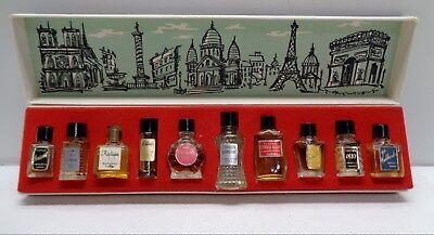Vintage Beauty Collectible LES GRANDS PARFUMS DE FRANCE 10 MINI BOTTLES UNUSED