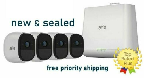 NEW Arlo Pro 4-Camera System, 2-way Audio Wifi HD Security Rechargeable Battery