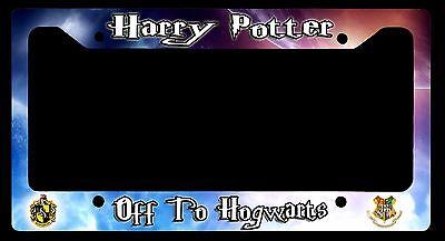 L@@K! Off to Hogwarts - License Plate Frame - Harry Potter - Hufflepuff Crest
