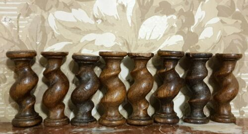 8 Barley twist turned spindle Column Antique french oak architectural salvage