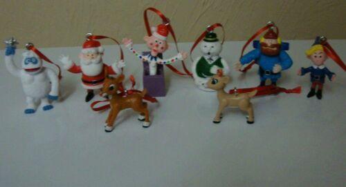 Rudolph Red Nose Reindeer 7Pc Ornament Set Bumbles Yukon Cornelius Charlie Santa