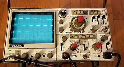 Kikusui Cos5060 60mhz Analog Oscilloscope Plus Probes