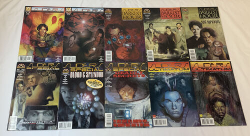 lot of ten SLIDERS tv show comic books ~ FULL SET