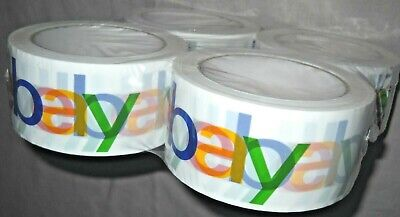 Lot Four4rolls Official Ebay Branded Packingsealingshipping Tape 2 X 75 Yds