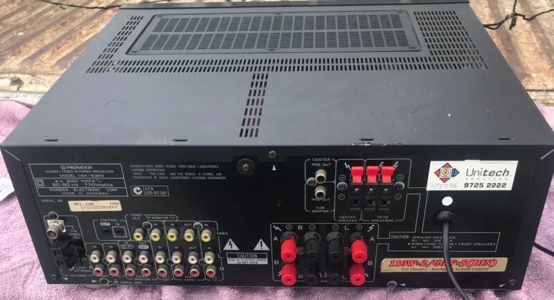 Vintage pioneer video stereo receiver vsx 536s stereo systems vintage pioneer video stereo receiver vsx 536s redcliffe redcliffe area image 2 fandeluxe Gallery