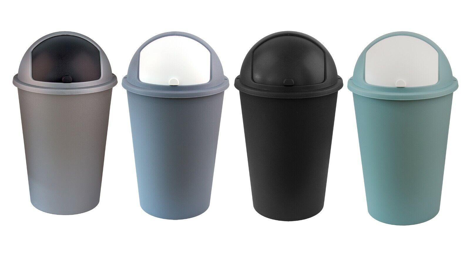 XXL Mülleimer mit Deckel 50L groß Plastik Abfallbehälter Müllsammler Papierkorb
