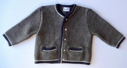 BONPOINT BOYS Winter Tipped Button Pockets Wool Blend Cardigan Sweater 86cm 18M