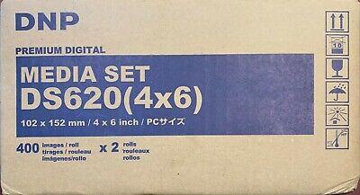 "DNP 4x6"" Dye Sub Media for DS620A Printer, 400 Prints Per Roll, 2 rolls/ribbons"