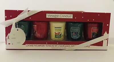 YANKEE CANDLE Sampler Box Set Of 4 VOTIVE CANDLES New In Box