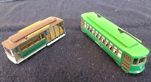 2 Vintage Model Street Railway Cars for sale.