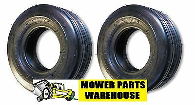 2 NEW 11x4.00x5 11x4.00-5 11 4.00 5 STRAIGHT RIBBED 4 PLY TIRES REPLACE CARLISLE
