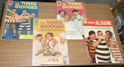 DELL COMICS The THREE STOOGES Lot of 4 #1187 6 8 Comic Album 18  3 Stooges