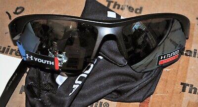 UNDER ARMOUR WINDUP SUNGLASSES Satin Carbon / Baseball Tuned lens UA Youth (Under Armour Youth Baseball Sunglasses)