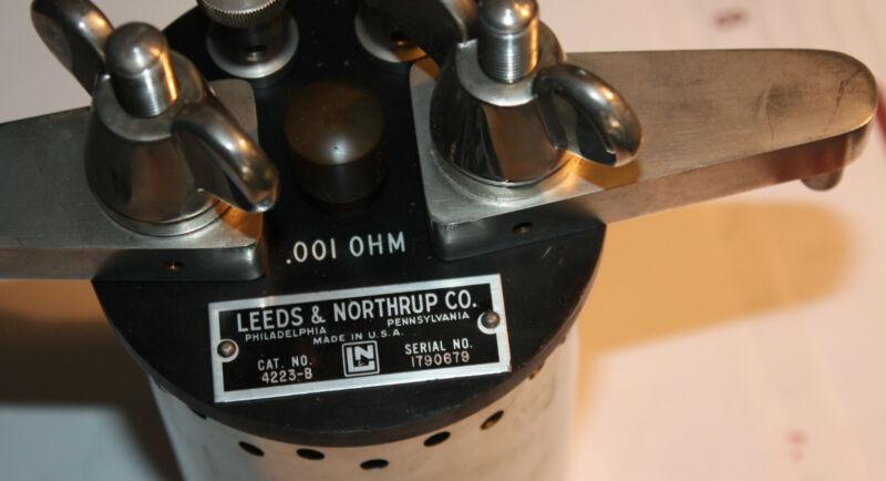 Leeds & Northrup .001 OHM resistor resistance lab standard calibration 4223-B