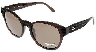 Diesel Sunglasses Round 100% UV Protection Dark Brown Unisex DL0045 48E