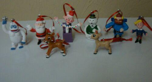 Rudolph The Red Nosed Reindeer 8 pc Ornament Set Bumble Yukon Cornelius Hermey