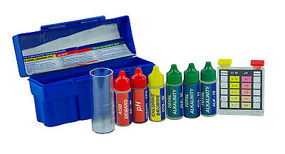 - Swimming Pool & Spa 5 Way Chemical Test Kit-Test Chlorine/Bromine/pH