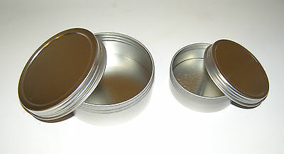 2-oz & 4-oz Round Shallow Metal Tin Can Containers & Screw-Top Lids - Craft Use for sale  Salt Lake City