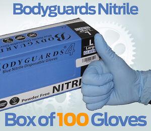 Nitrile-Gloves-box-of-100-LARGE-POWDER-FREE-workshop-mechanic-Bodygaurd-rubber