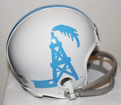 1959 Houston Oilers Prototype Riddell Custom Mini Helmet w/ 2 Bar Face Mask - Oilers Mini Helmet