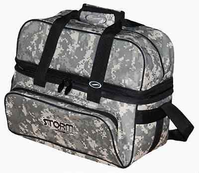 Storm 2 Ball Camo Tote Bowling Bag with shoe pocket Color Camouflage