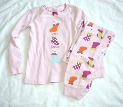 Girls Holiday Pajamas (Gymboree PJ Girls Long Sleeve Pajamas Pink Kitty Holiday)