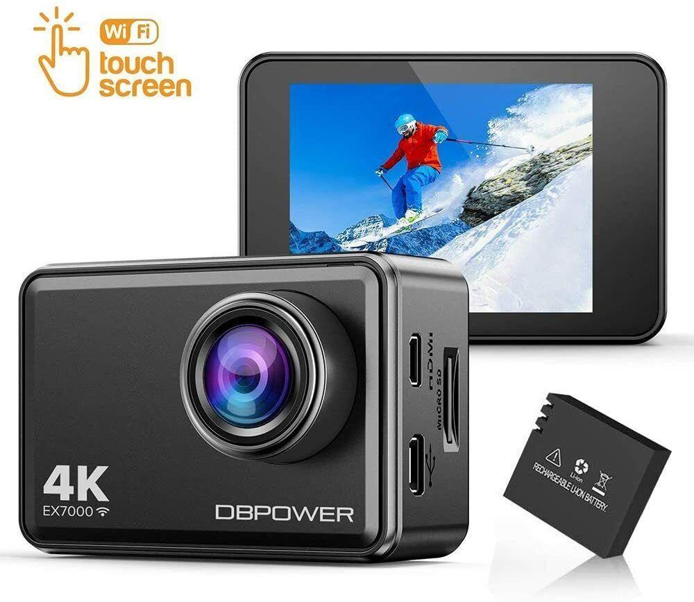 "DBPOWER EX7000 Action Kamera 4K Sports Cam Panasonic Sensor 14MP 2"" Touchscreen"