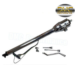 New Hot Rod Chrome Tilt  Auto Automatic Steering Column 30