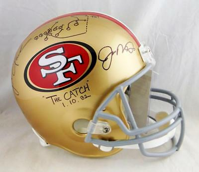 653092b93c5 Joe Montana Dwight Clark Signed 49ers F S Helmet The Catch Diagram-JSA W  Auth